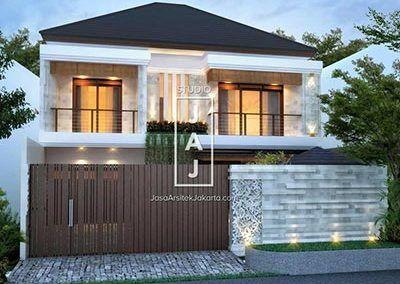 Desain Rumah 2 Lantai Luas Bangunan 374 M Style Bali Modern Bp