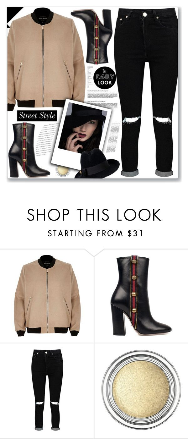 """""""The Daily Look"""" by cowseatchard ❤ liked on Polyvore featuring River Island, Gucci, Boohoo, Christian Dior and Balenciaga"""