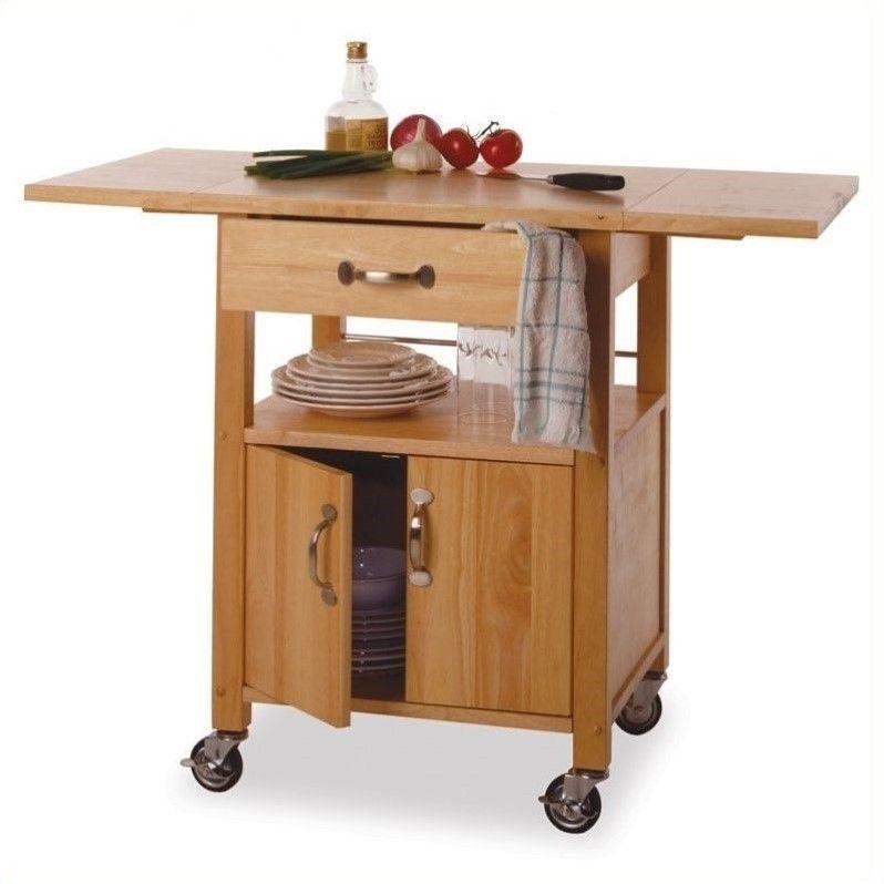 Winsome Wood Drop Leaf Kitchen Cart