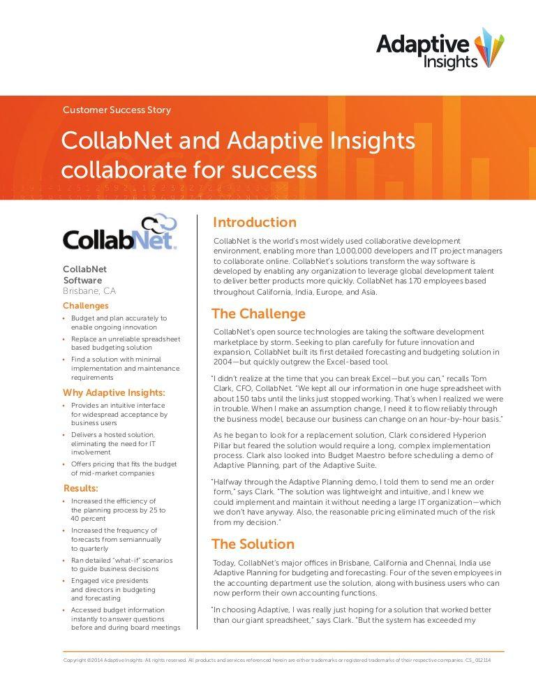 McKinstry case study final by Adaptive Insights via slideshare