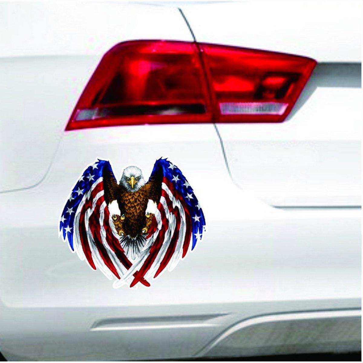 90x80mm Car Eagle Usa United States Flag Vinyl Auto Window Bumper Sticker Decal Bumper Stickers United States Flag Flag Decal [ 1200 x 1200 Pixel ]