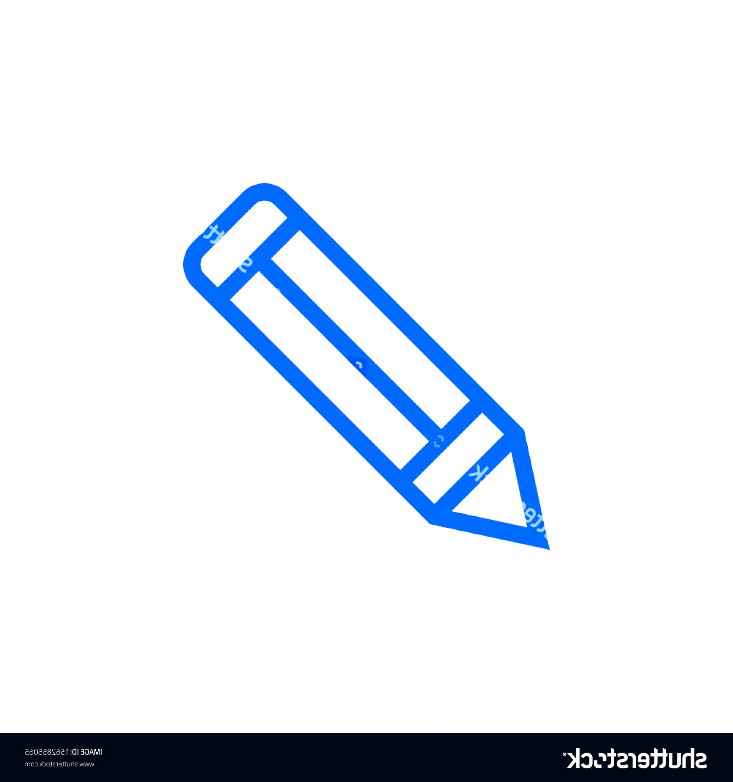 Photo of Pencil flat icon. Single high quality outline symbol of graduation for web desig…