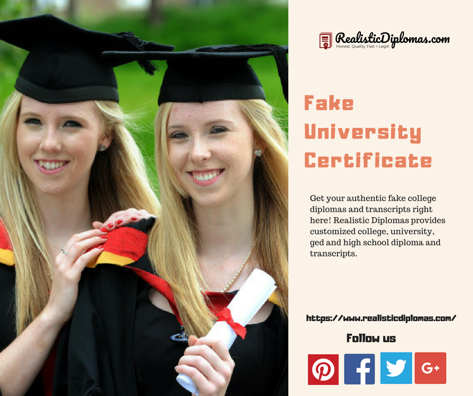 Shop Fake University Certificate From The Best Realistic Diplomas