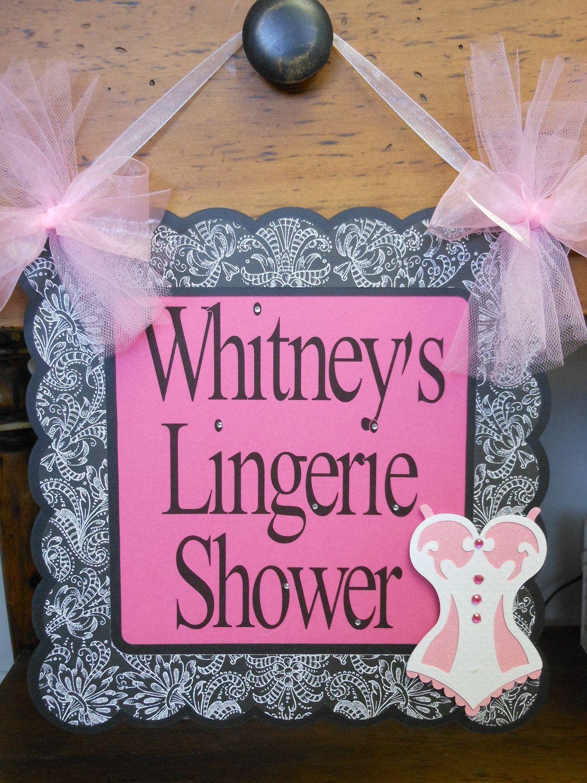 Welcome Door Sign- Pink Lingerie Future Mrs. Bridal Shower. $19.50 ...