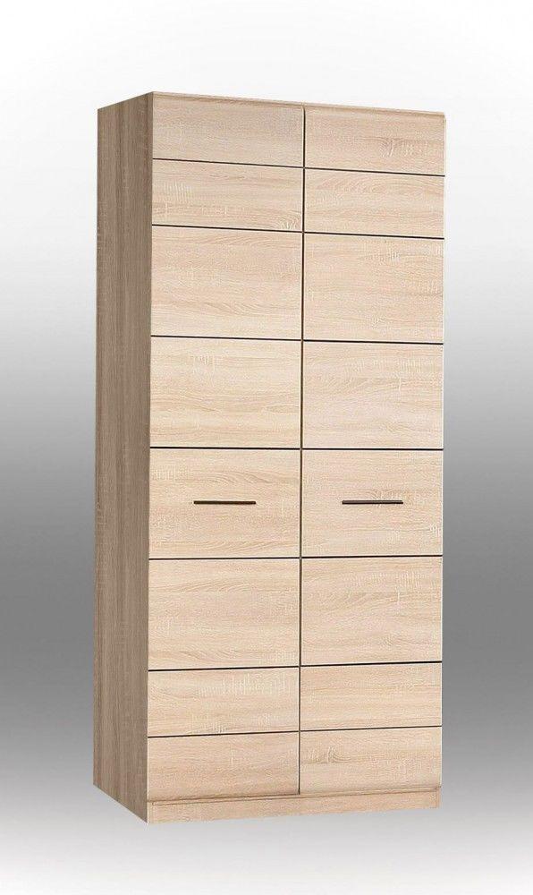 Nice Kleiderschrank Cora I passend zur kompletten Serie Cora Kleiderschrank T ren Einlegeboden Kleiderstange Metallbeschl ge