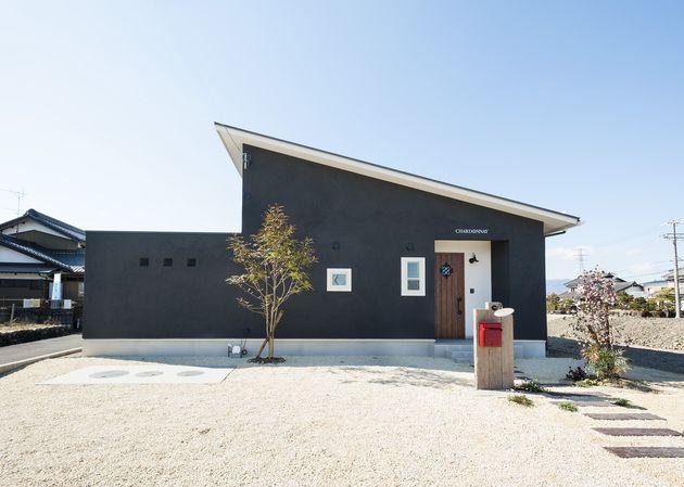 自然素材住宅北欧風シャルドネの平屋 住宅 外観 平屋外観 住宅