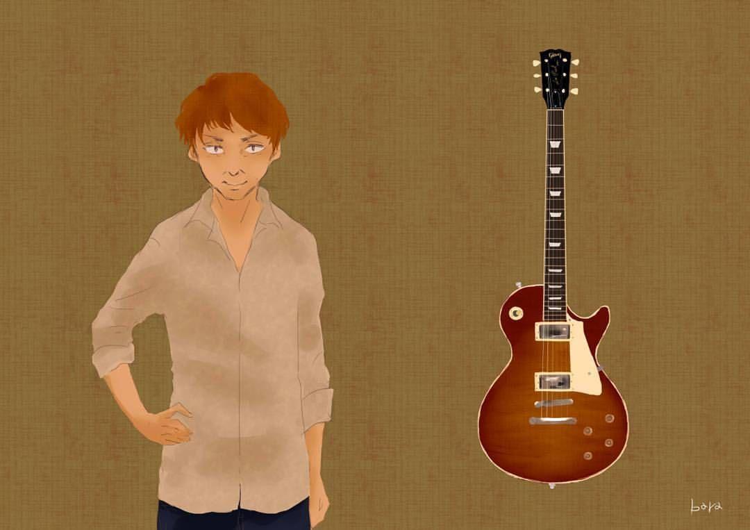 レスポール イラスト デジタルイラスト ギター レスポール