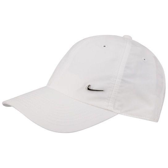 Boné Nike Metal Swoosh - Branco e prata