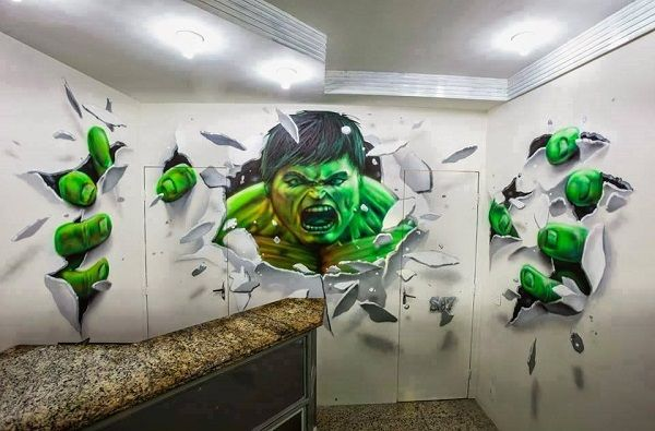 Incredible Hulk wall art   We could be heroes, just for ...
