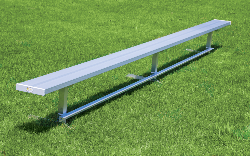 Permanent Aluminum Benches In 2020 Bench Bench With Back Picnic Table