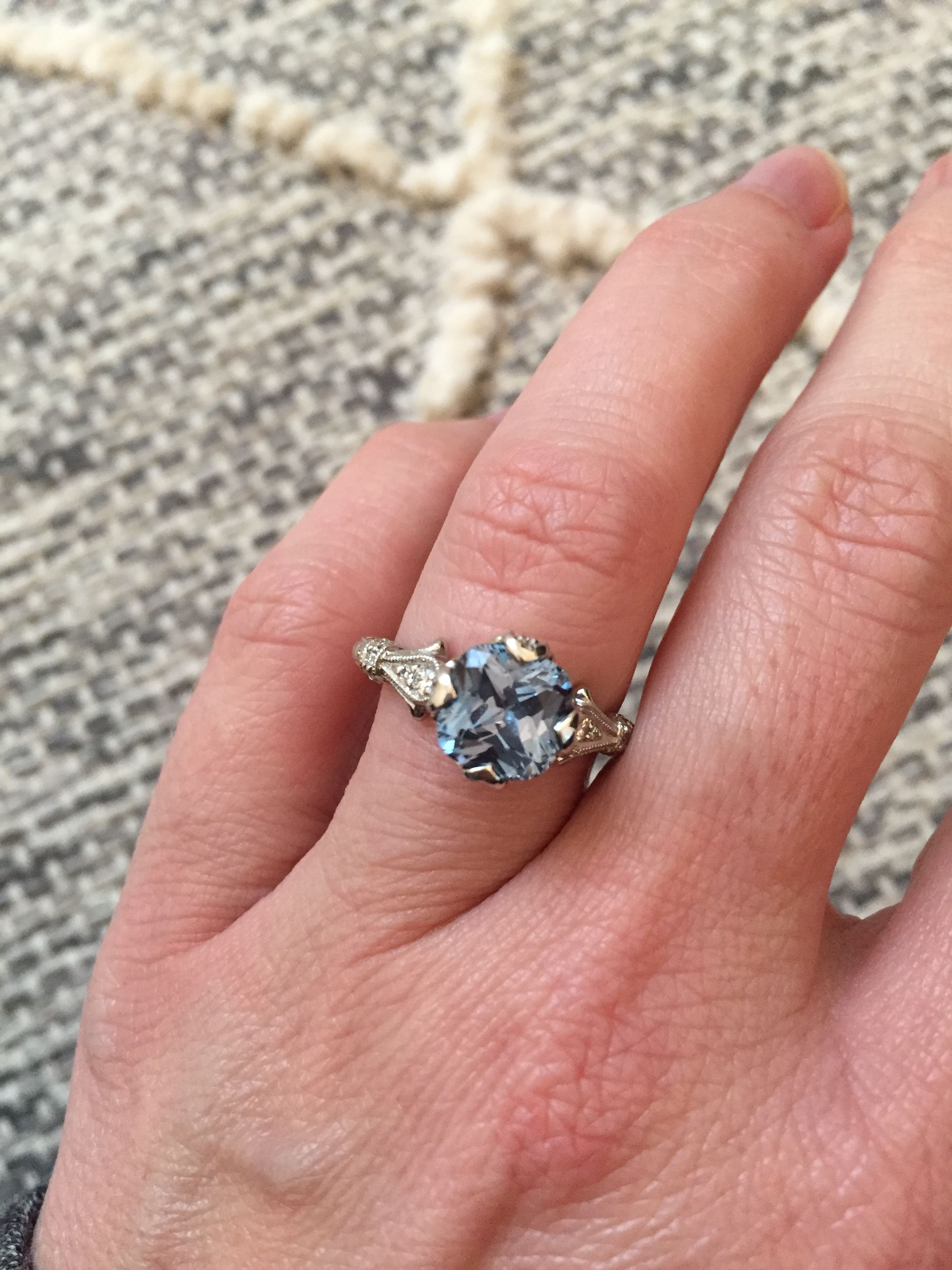 Please share your sapphire/gemstone solitaires! - Weddingbee | Page ...