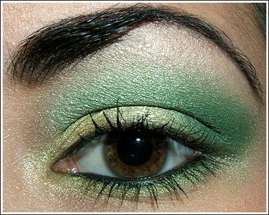 tutorial  emerald green eyes  green eyeshadow green