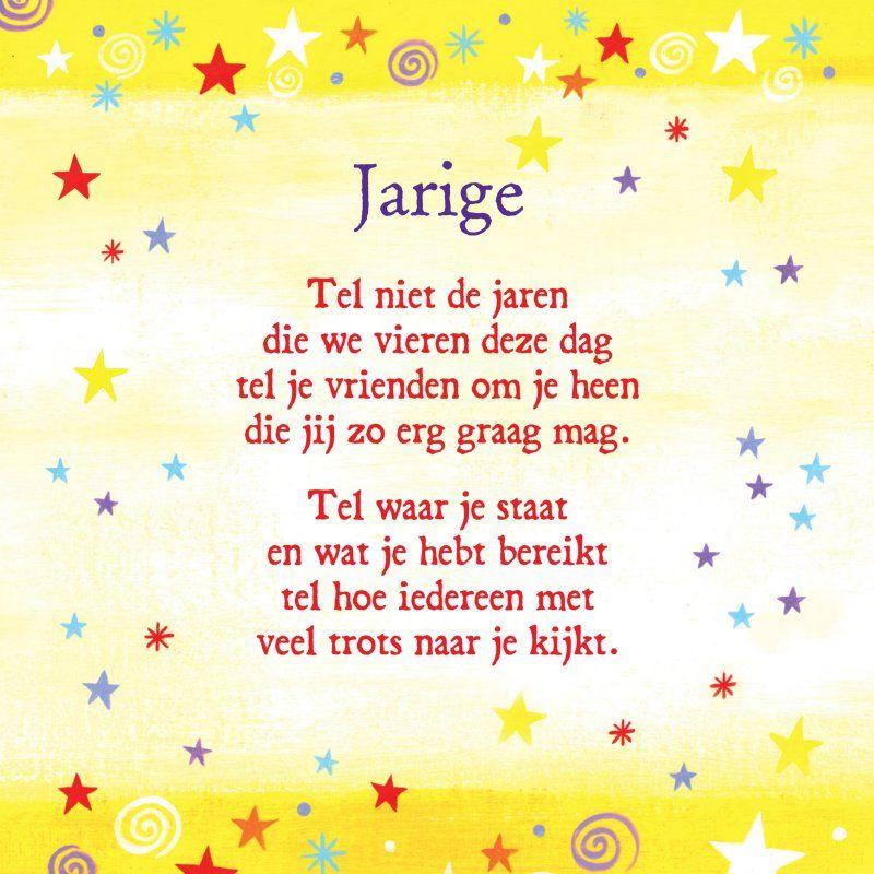 gedicht jarig la cardia kaart met gedichtje jarig cardpartfront. (800×800  gedicht jarig