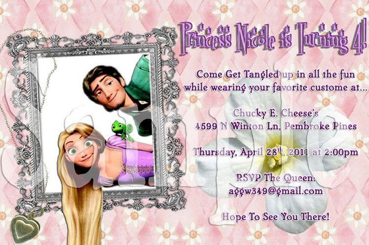 Rapunzel Birthday Invitation Wording