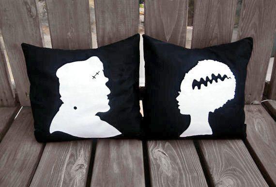 Halloween Pillow Halloween Decor Frankenstein pillow, Bride of - halloween decorations for sale
