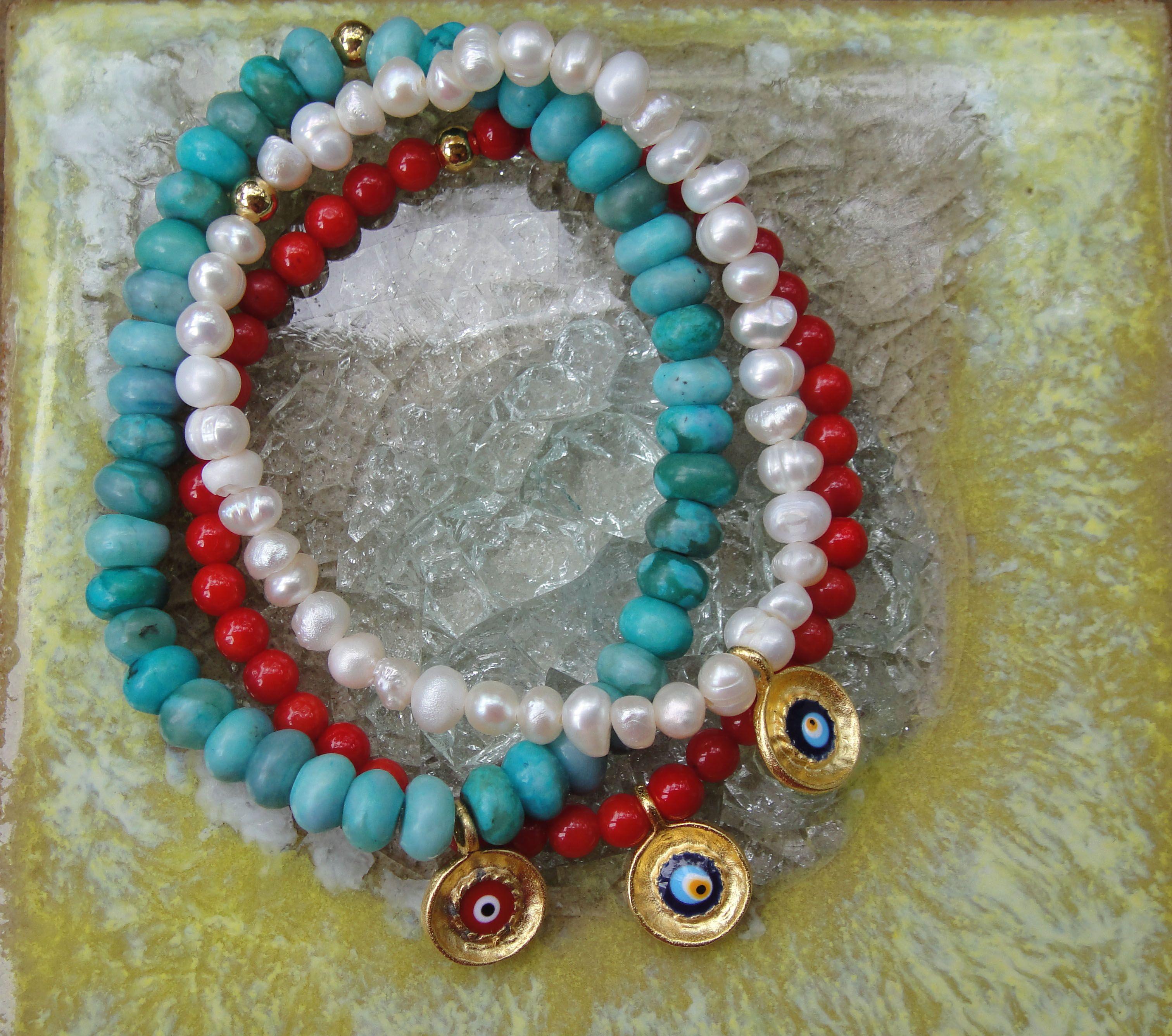 Evil Eye Bracelets  www.etsy.com/shop/ten10jewelry
