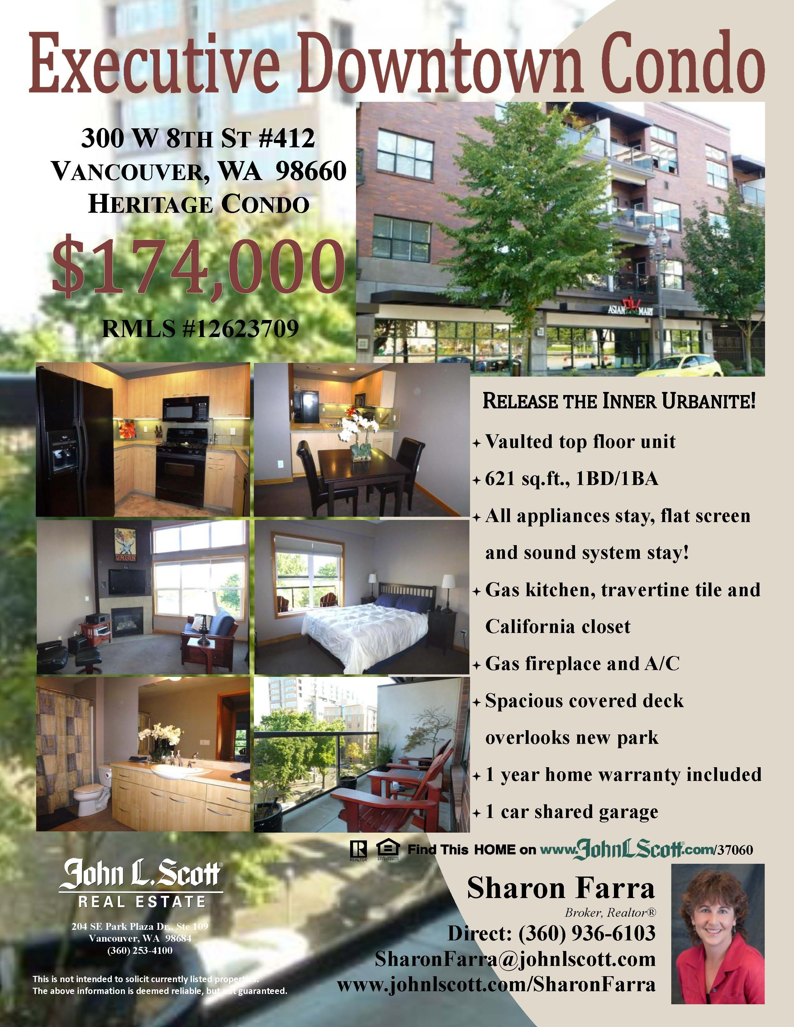 For Sale 174 000 1 Bd 1 Ba Executive Downtown View Condo