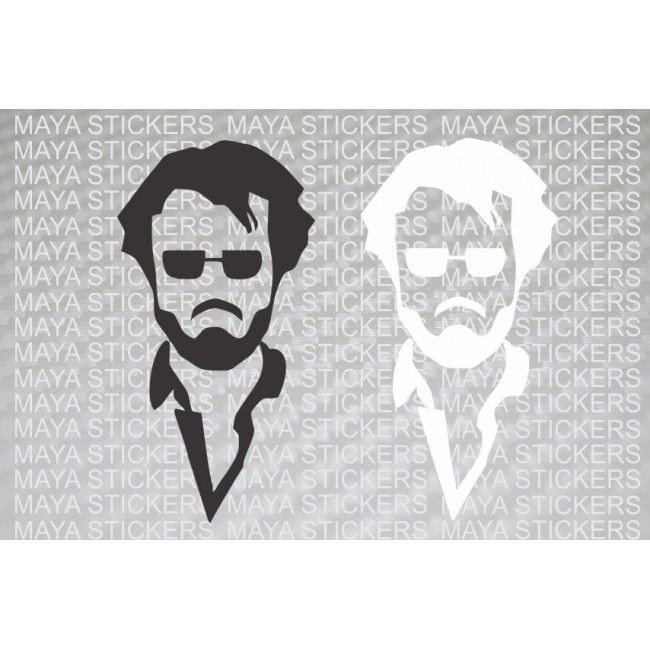 Rajnikant Sticker For Cars Bikes And Laptop Available In Custom - Custom vinyl decals india