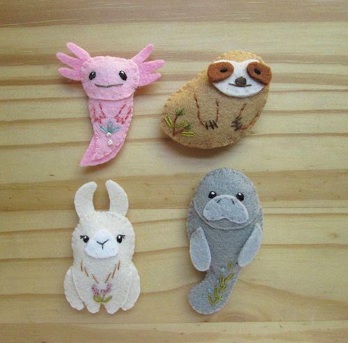 Diy Unusual Creatures Pdf Felt Sewing Pattern By Aimee Ray Axolotl