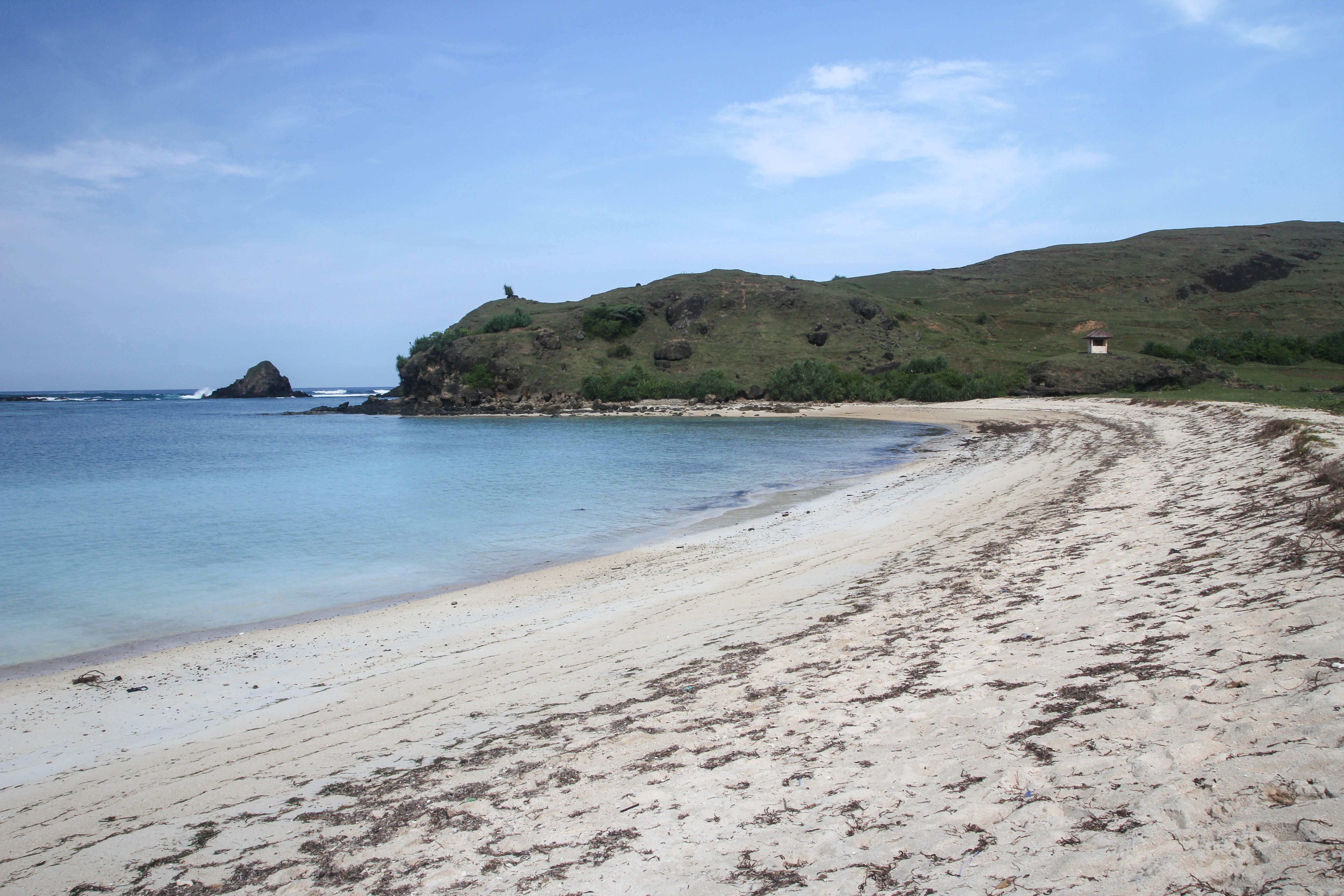 Indonesia - Lombok - Pantai (beach) Seger - Right side of the beach