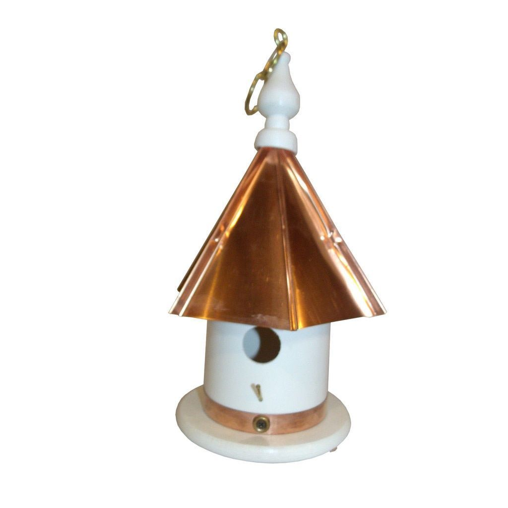 Best 13 Inch High Hanging Bird House With Copper Top Small 400 x 300