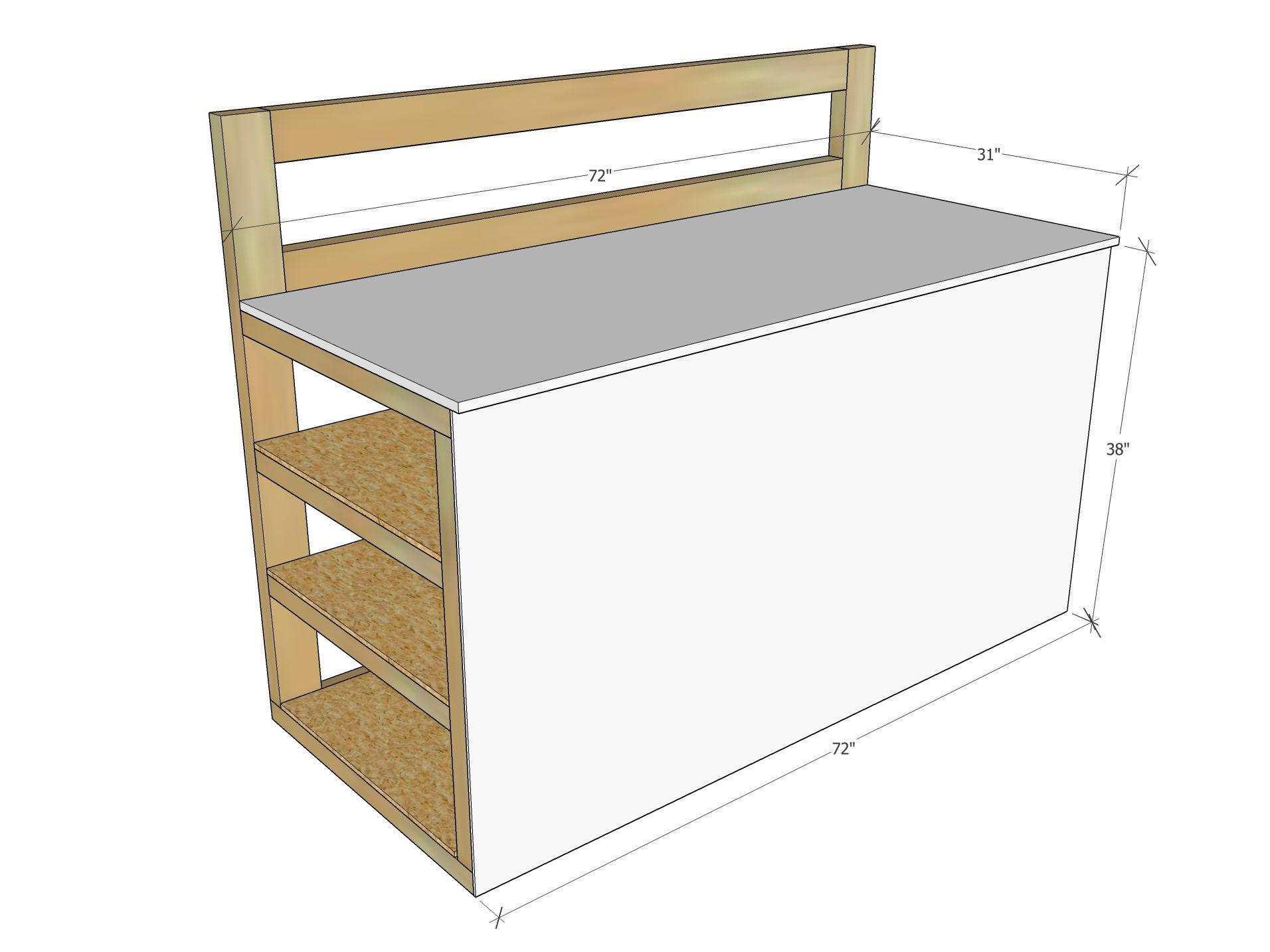 Tall Workbench with Wood Storage Wood storage, Furniture