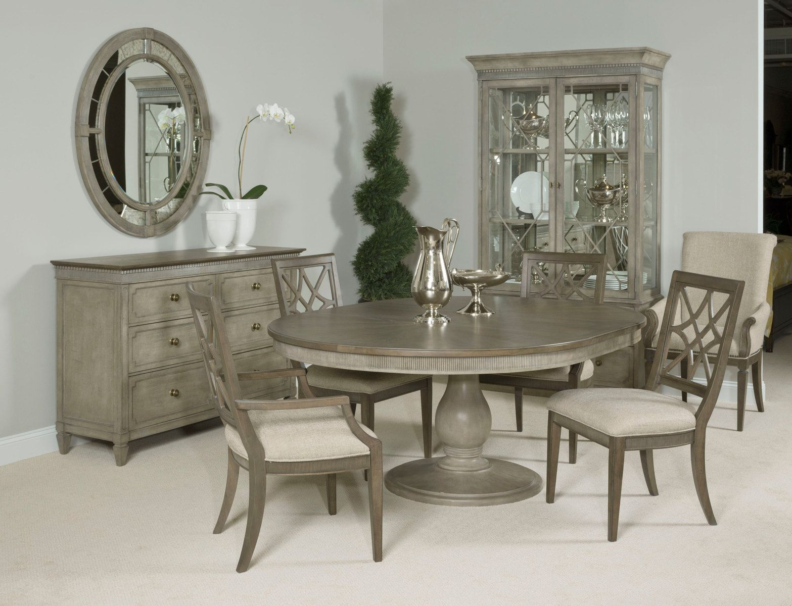 American Drew Savona 5pc Octavia Dining Room Set In Versaille