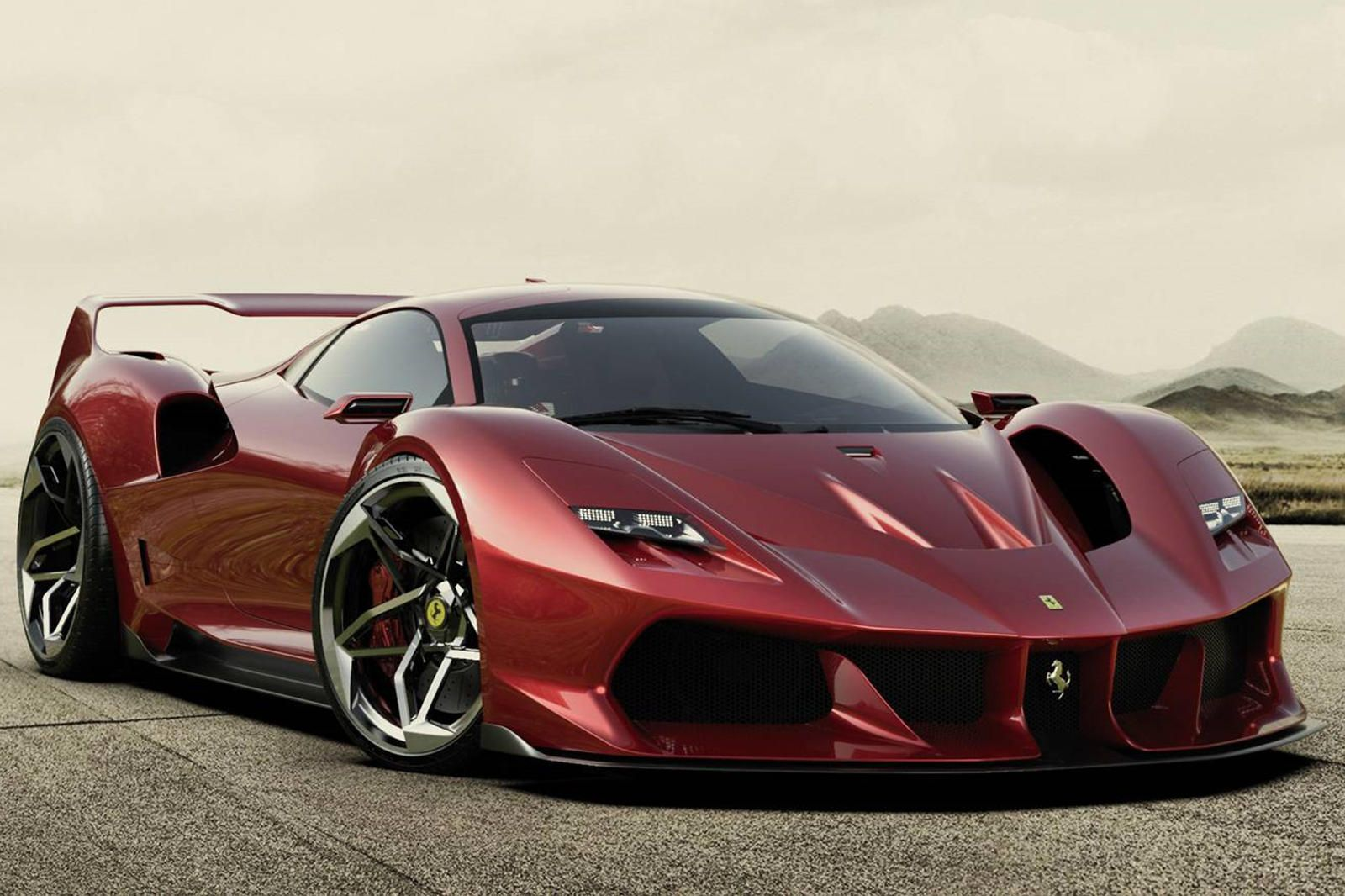 Ferrari F40 Redesigned As Stunning Modern Day Supercar Carbuzz Ferrari F40 Concept Cars Sports Cars