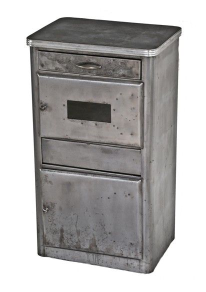 Late 1930u0027s American Vintage Medical Hospital Examination Room Cold Rolled  Steel Supply Cabinet Or Workstation