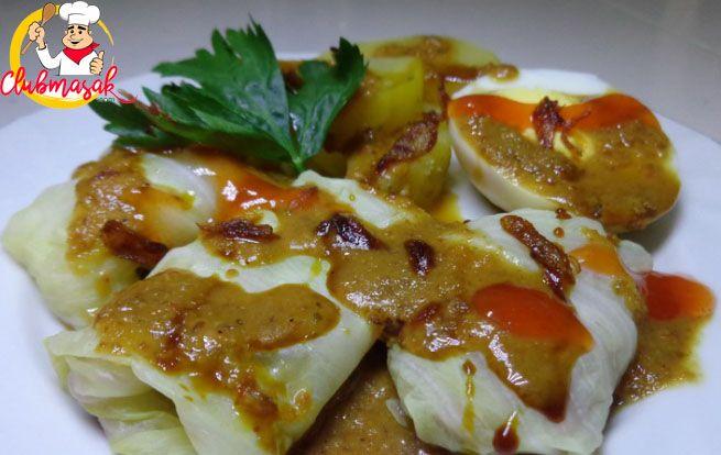 Resep Hidangan Sayuran Kol Gulung Saus Kacang Masakan Sehat Untuk Diet Club Masak Diet Resep Makanan Diet