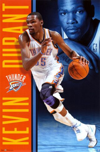 half off c30c7 9279b Kevin Durant - Oklahoma City Thunder. Poster from AllPosters.com,  9.99