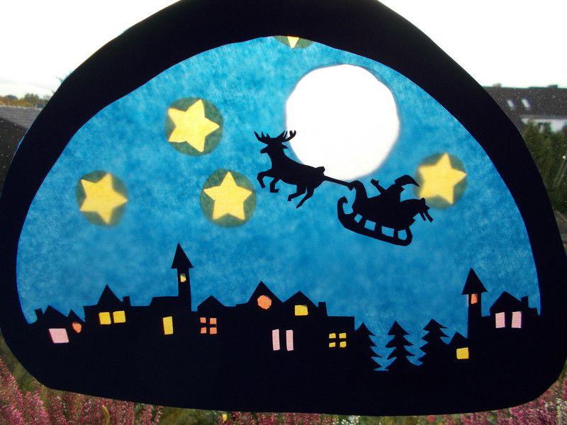 waldorf transparentbild weihnachten  fensterbilder