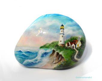 Bambini Dipinti ~ Painted stone sasso dipinto a mano. bambini sulla spiaggia