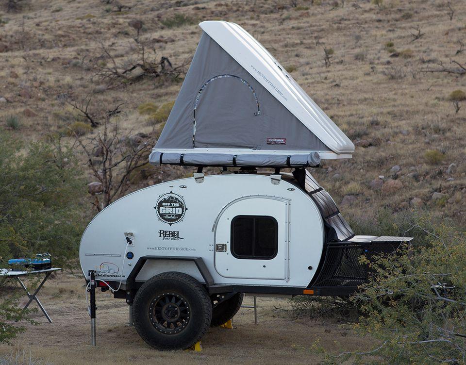 Off the Grid Rentals Off road teardrop, Teardrop trailer