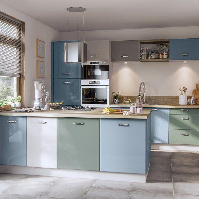 Cuisine verte nos plus beaux mod les cuisine verte cuisines color es et meuble de cuisine - Modele cuisine castorama ...