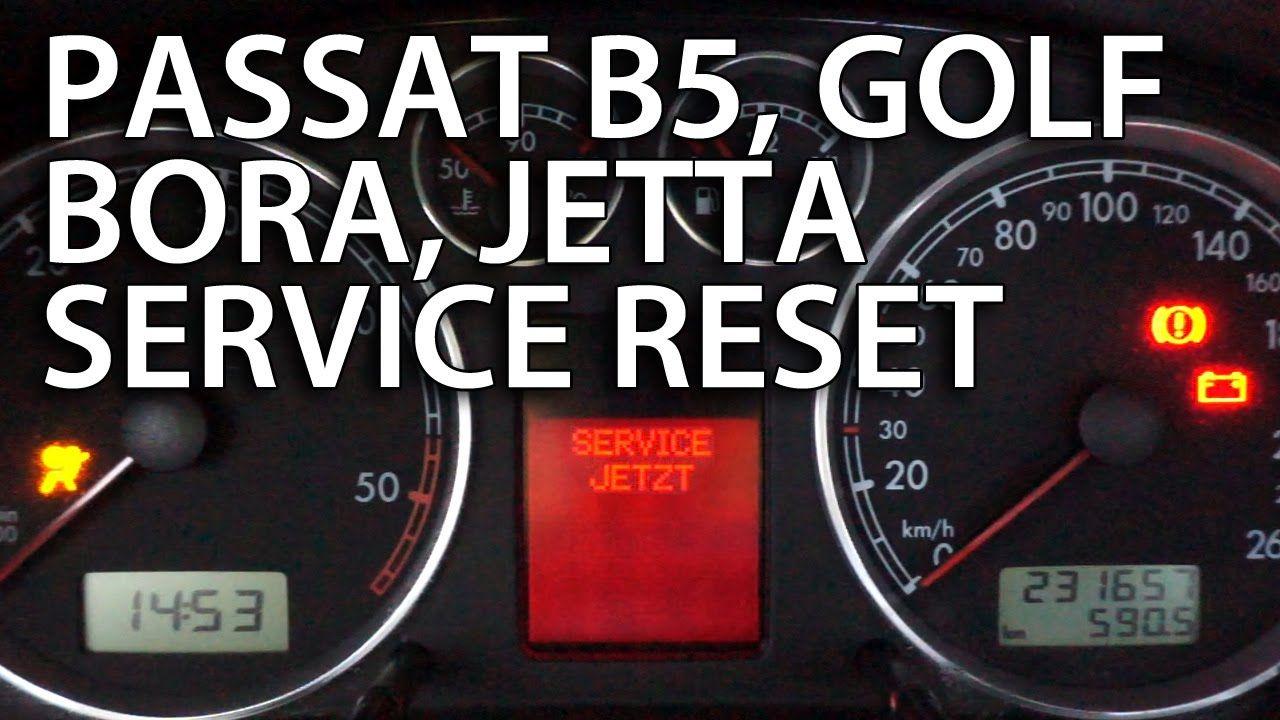 How To Reset Service Reminder Vw Passat B5 Golf Bora Jetta Mk4 1 9tdi Vw Golf Tdi Vw Passat Golf