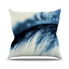 Fall in Blue by Ingrid Beddoes Cotton Throw Pillow