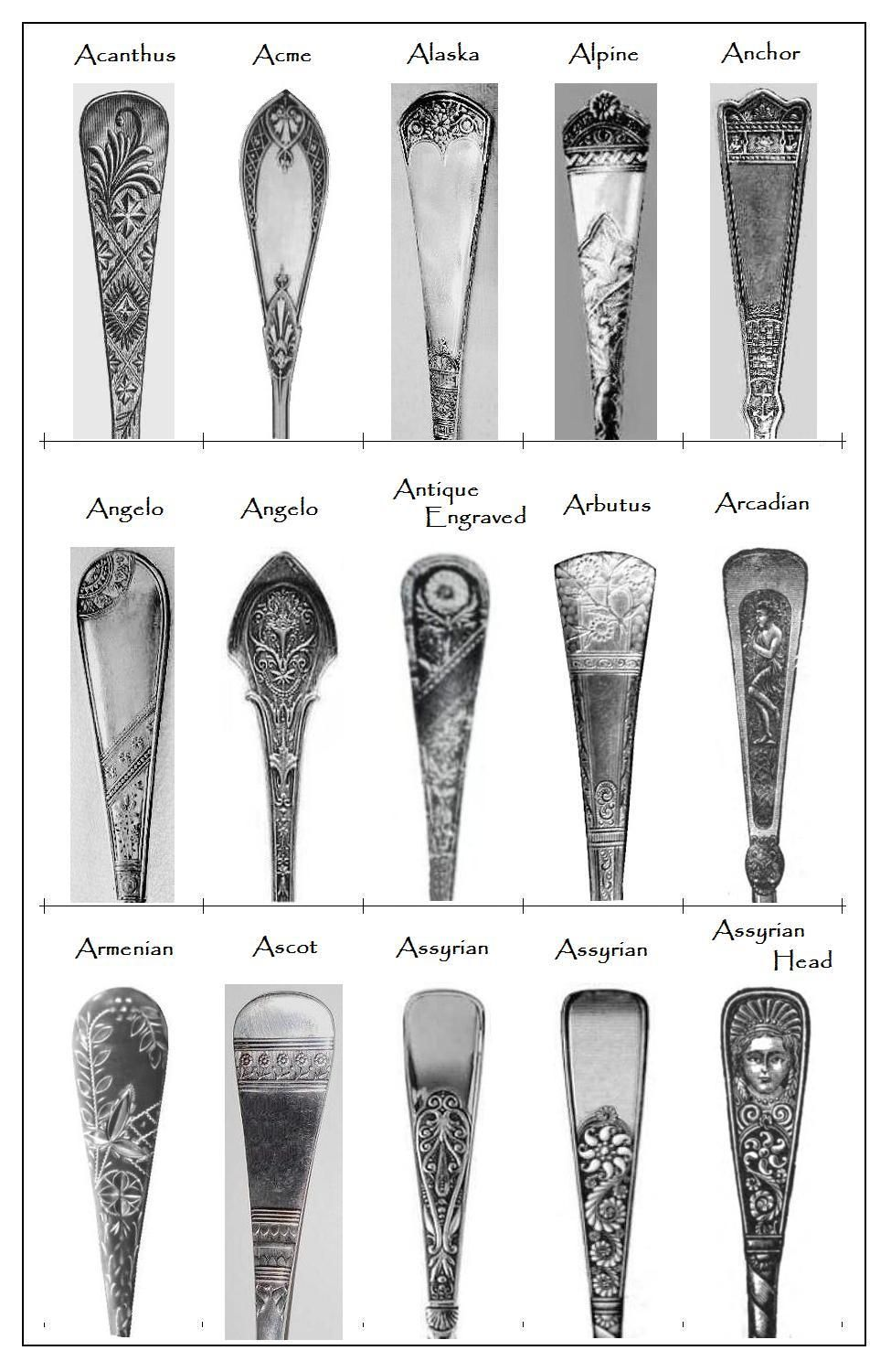 Some 19th Century Flatware Patterns Flatware And Ware F C
