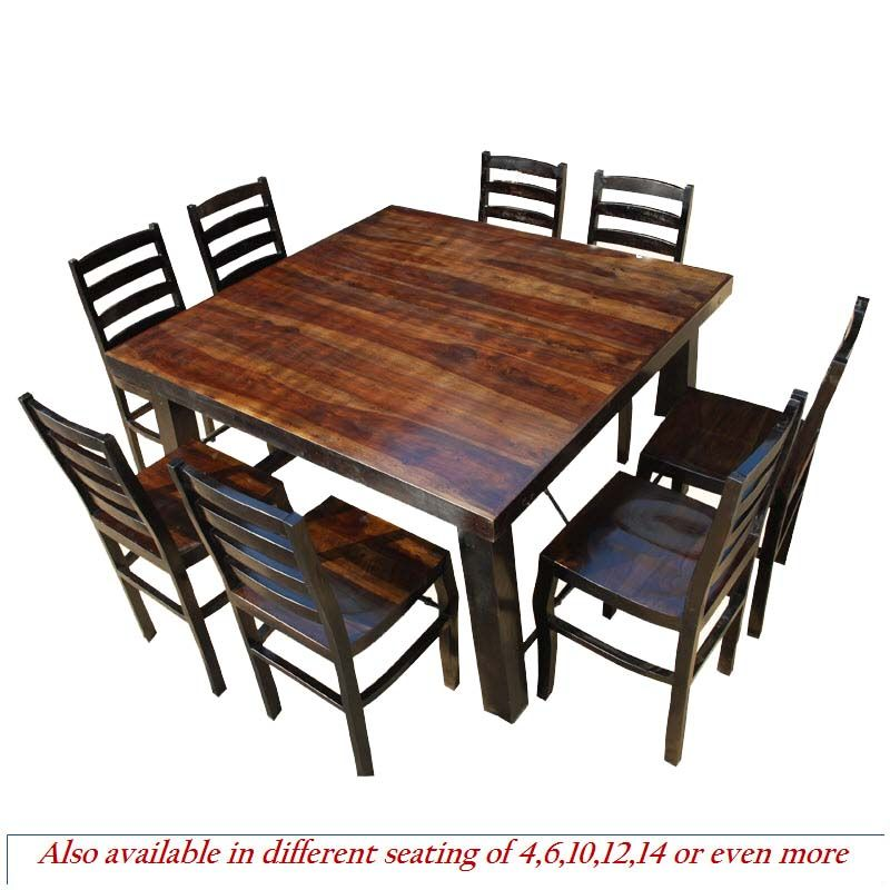 Rustic Counter Height Kansas City Square Dining Set For People - 4 person counter height table