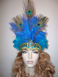 Ostrich Show Girl SAMBA Feather Flapper Fascinator Headpiece Festival Party prom