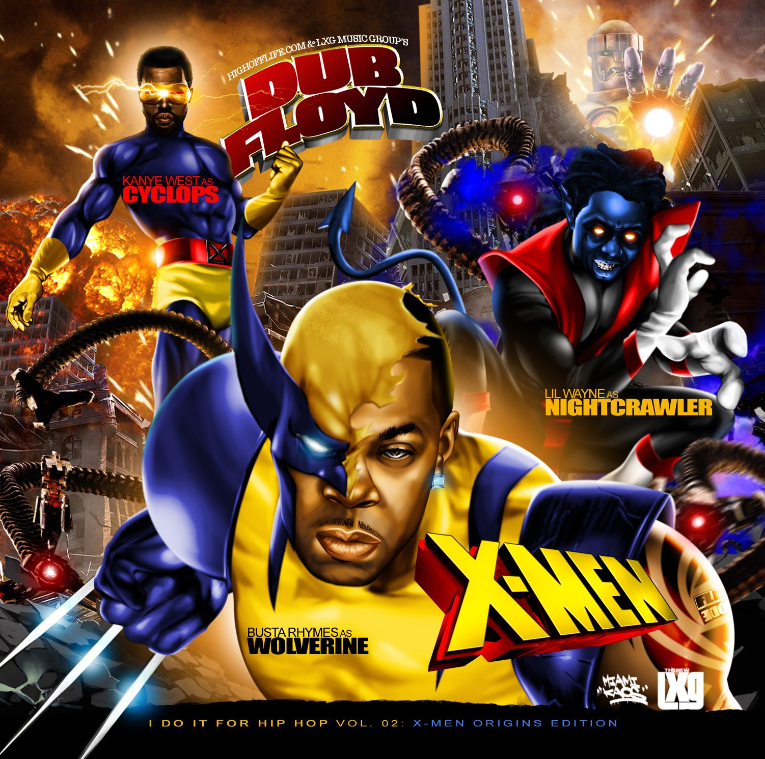 I Do It For Hip Hop 2 X Men Origins Edition Art By Miami Kaos