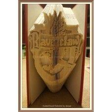 Harry Potter Ravenclaw - book folding pattern - bookfolding - book fold - altered books - papercraft patterns - DIY Crafts - Bookami ® - DIY Christmas Gift