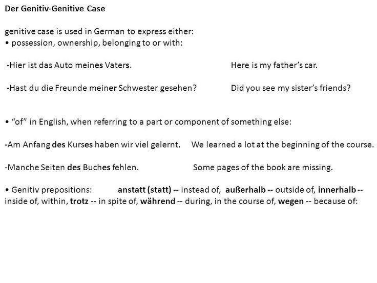 Case Auf Deutsch