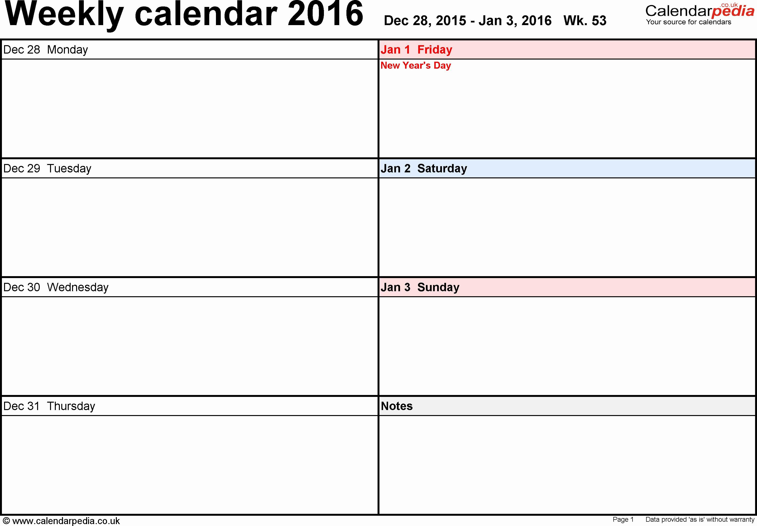 Awesome 34 Examples Printable Calendars Work Week