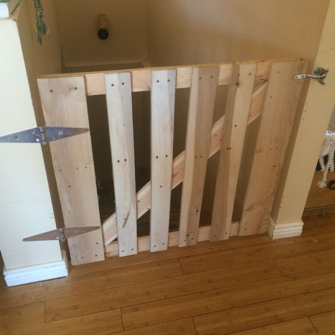 Wooden Pallet Stairs Ideas: My Pallet Wood Baby Gate.