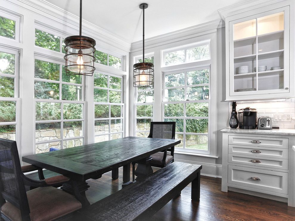 Superb Restoration Hardware Lighting Look Other Metro Traditional Kitchen Image Ideas With Dark Wood Dining Bench