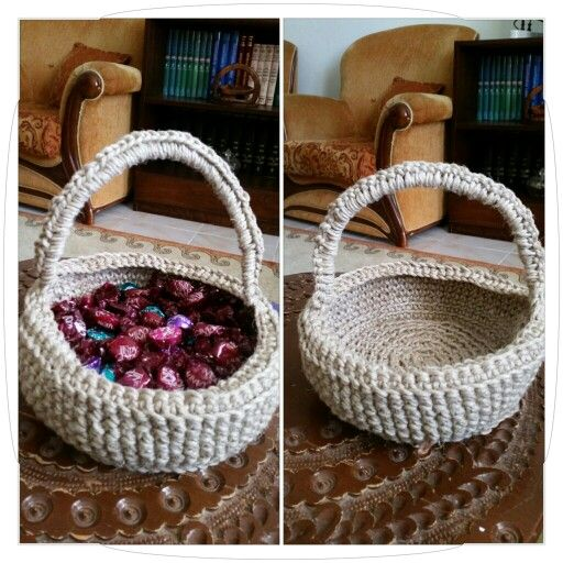 Kırnaptan..şeker sepeti..sweet & choclate basket...dc.using thick  jute twine