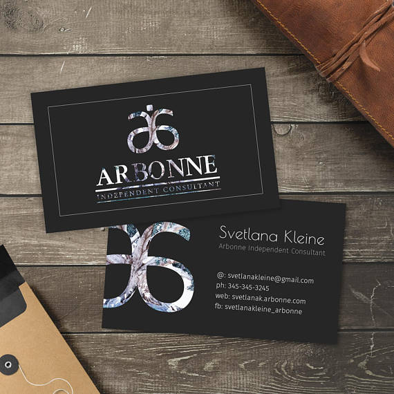 Arbonne Business Cards Free Personalised Arbonne Consultant Arbonne Business Cards Arbonne Gifts Gift Certificate Template