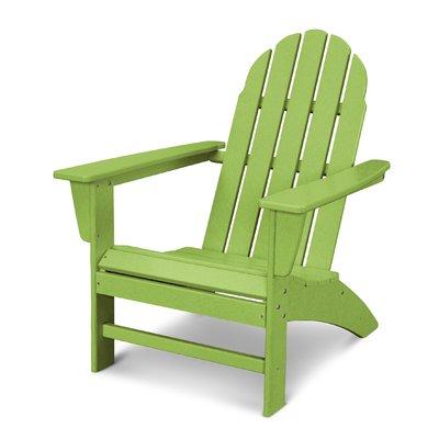 Polywood Vineyard Plastic Adirondack Chair Color Wood