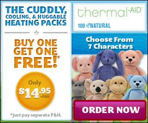 Thermal Aid Stuffed Animals Heating Cooling Pads For Kids New